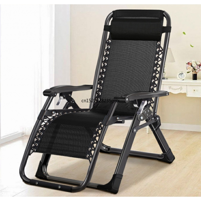 Chaise Longue Folding Lunch Break Balcony Backrest Siesta Chair Leisure Home Bed Portable Chair Elderly Beach Lazy Couch