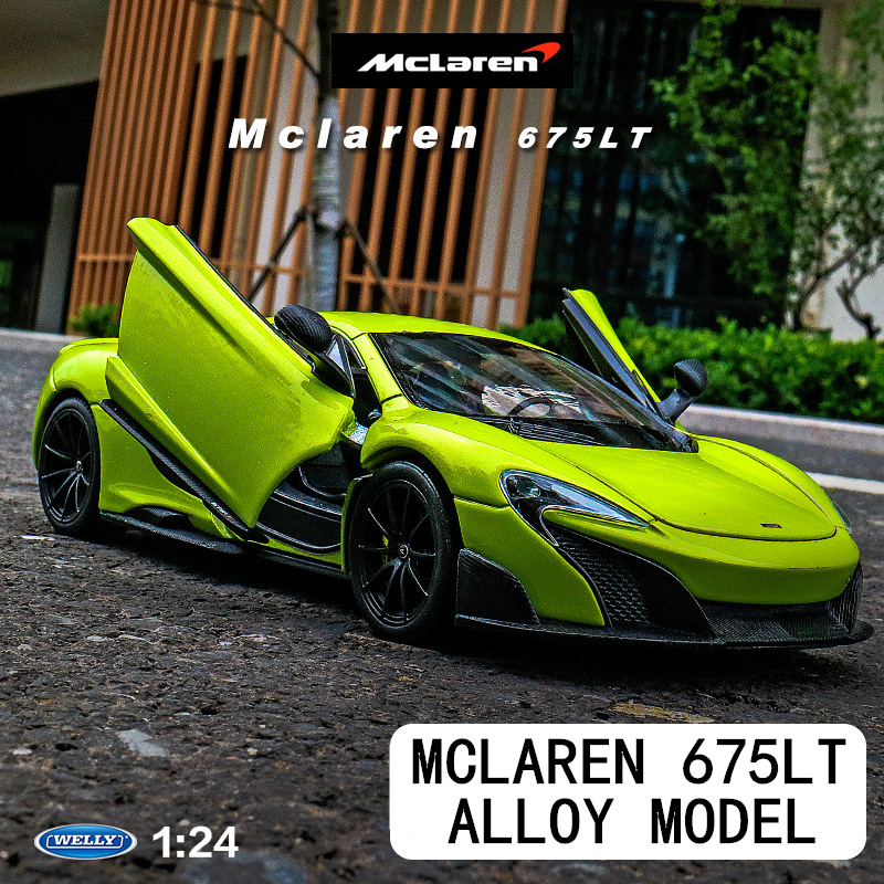 welly 1:24 McLaren 675LT  car decoration collection gift toy Die casting model boy