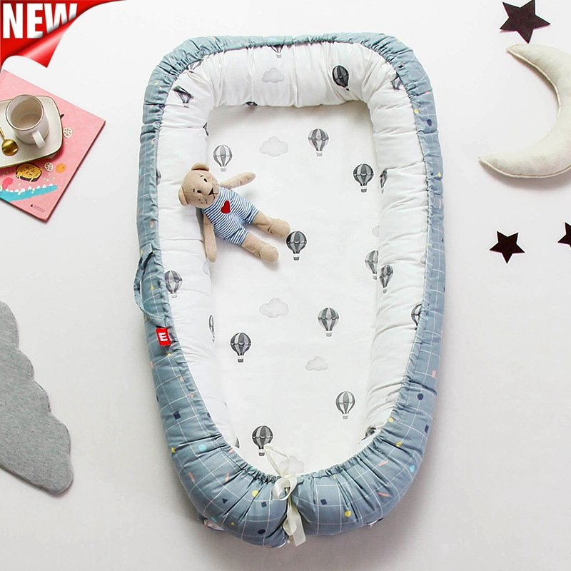 Baby Mobile Portable Crib Kids Nest Bed Portable Crib Travel Bed Infant Toddler Cotton Cradle For Newborn Baby Bassinet Bumper