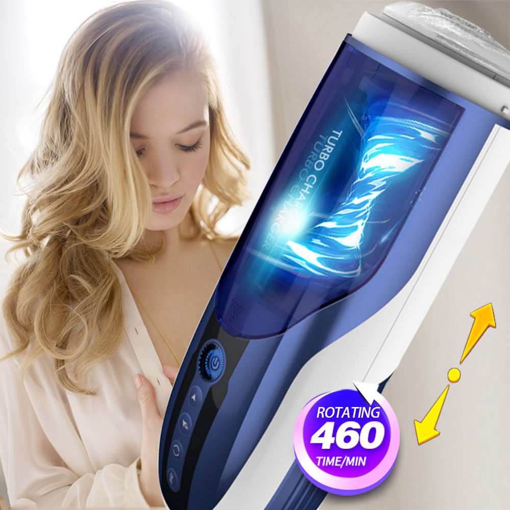 Manbird Full Automatic Thrusting Male Masturbator Toys For Men Retractable Voice Electric Machine Blowjob Sucking Sex Products