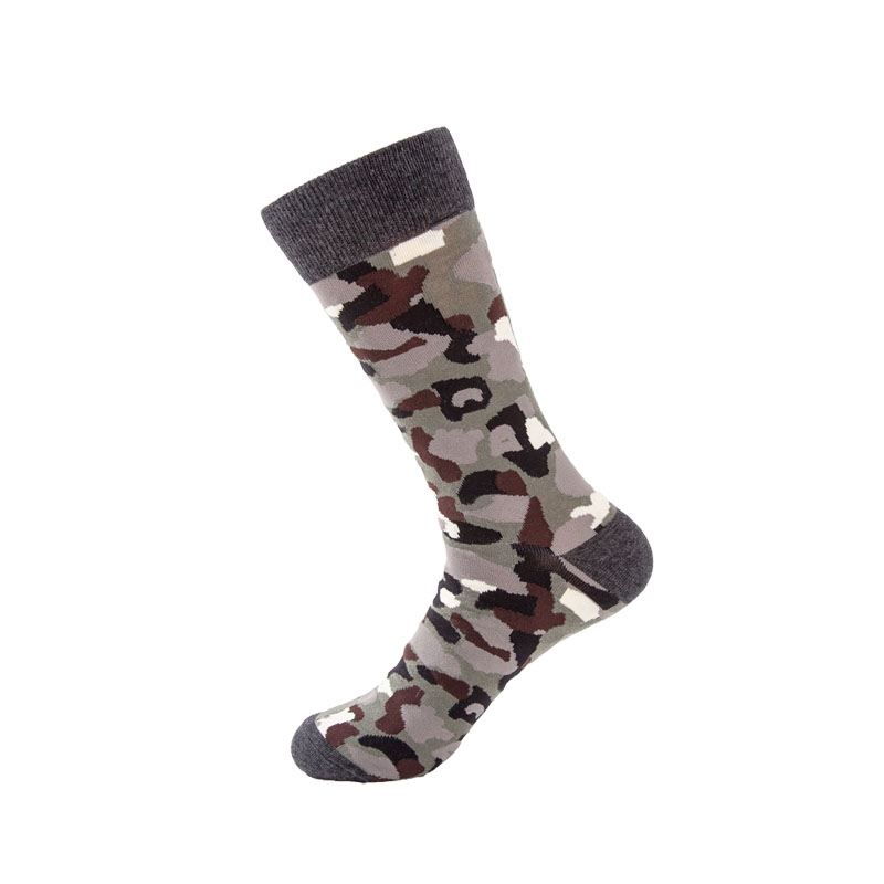 High-quality Happy Socks Men's Colourful Combed Cotton Mens Socks Newest Male Camouflage Long Skateboard Sock Large Size