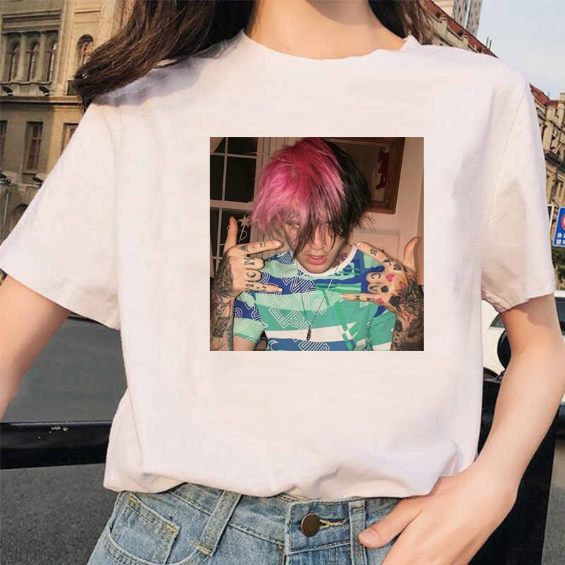 Lil Peep Rapper  T Shirt Rap Hip Hop Kawaii Girl Tshirt Women Harajuku 90s Korean Vintage Tumblr T-shirt Graphic Tee Tops Female