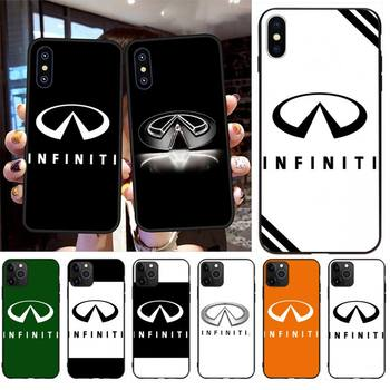 PENGHUWAN Super Car Infiniti Logo Soft black Phone Case for iPhone 11 pro XS MAX 8 7 6 6S Plus X 5S SE 2020 XR case image