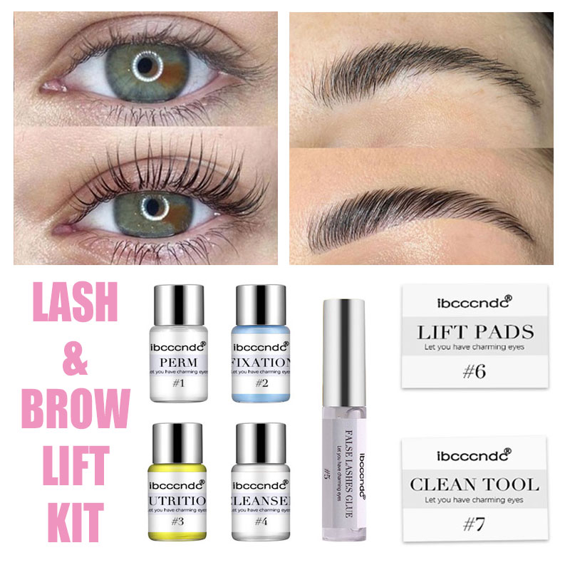 Eyelash & Brow Lift Perming Pads Extension Kit Curling Eye Lash Glue Wave Lotion Set For Home Use Beauty Salon Dropshipping