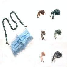 Mask Acrylic Necklace for Women Wedding Punk Bead Lariat 8 C