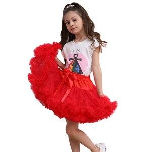 Image 5 - פרח בנות שמלות תחתוניות תחתונית קוספליי מפלגה קצרה שמלה לוליטה תחתונית בלט טוטו חצאית רוקבילי ילדים קרינולינה