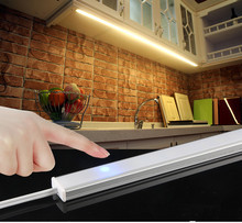 цены led Under Cabinet Light 3W Touch Sensor LED Night Light Closet Wardrobe Lamp Pathway Kitchen DC5V