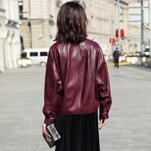 Image 3 - AYUNSUE gerçek deri ceket 2020 bahar sonbahar ceketi kadınlar 100% hakiki koyun derisi ceket kadın bombacı ceketler Chaqueta Mujer benim