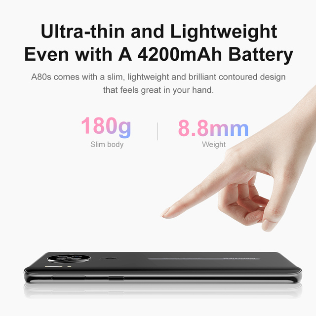 Blackview A80s Smartphone 6.217'' Screen Android 10 MT6762V/WD Octa Core 4GB RAM 64GB ROM Mobile Phone 4200mAh 4G Cellphone 6