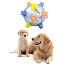Funny Pet Ball Toy Dog Flashing Dancing Ball Toy Glowing Fun Bouncing Jumping Balls Dog Interactive Puzzle Balls Random Color