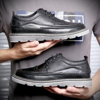 New Men's Shoes Summer Trendy Shoes British Casual Shoes Korean Retro Business Shoes