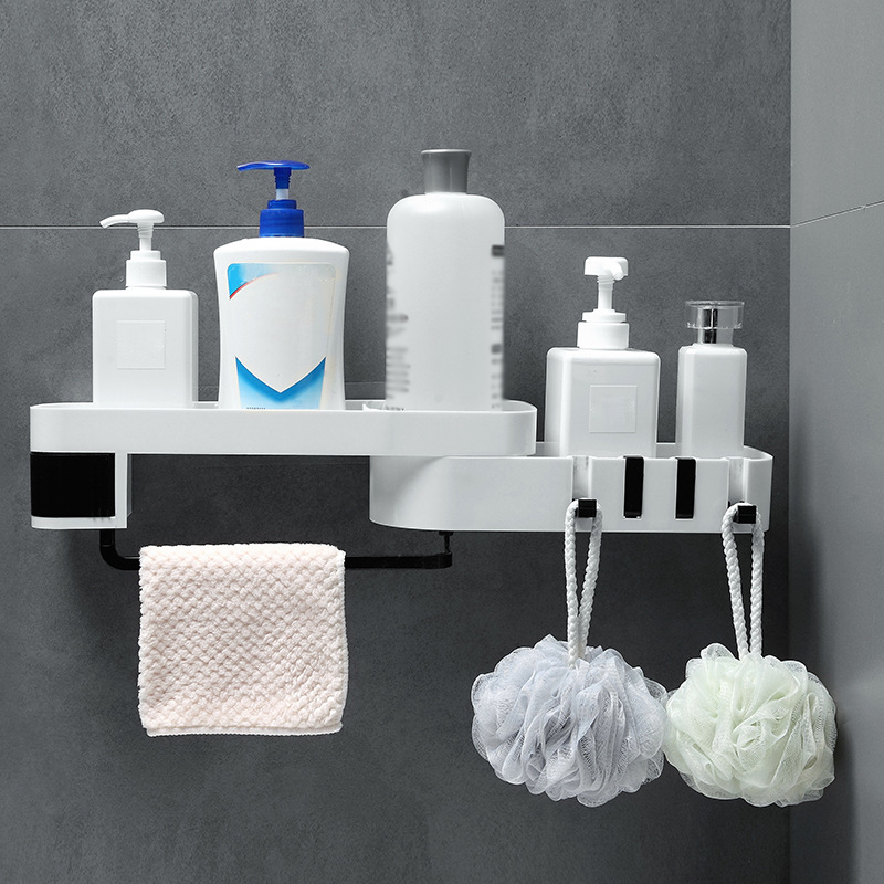 Cremalheira do banheiro Prateleira de Canto Prateleira Chuveiro Titular Wall Mounted Shampoo Titular Organizador Rack De Armazenamento de Cozinha Acessórios Do Banheiro