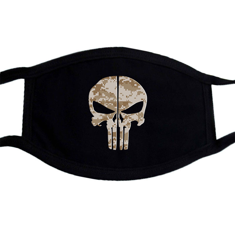 Dust Mask Heavy Metal Rock Hard Grunge Death Gothic Gig Let'S Rock Skulls Head Washable Reusable Dustproof Protection Mask