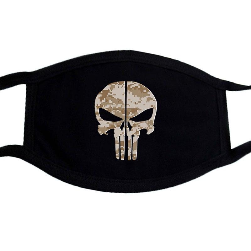 Dust Mask Heavy Metal Rock Hard Grunge Death Gothic Gig Let'S Rock Skulls Head Washable Reusable Dustproof Protection Mask