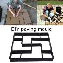 Path Maker Mold Garden Stone Road Mold Garden Decoration Manually Paving Cement Brick Concrete Molds DIY Plastic(China)