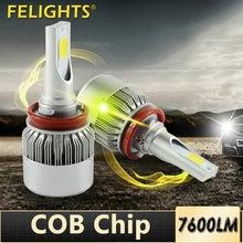 2 шт Автомобильные светодиодные лампы h11 h7 h8 h9 h4 h1 9005
