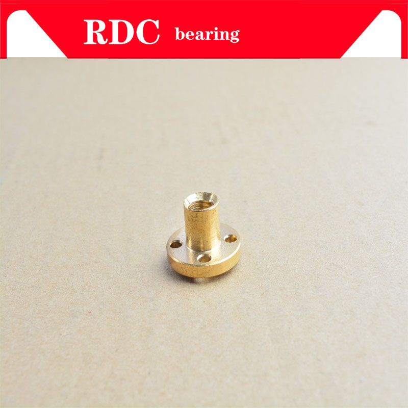 1PCS T12 Nut Trapezoidal Screw Nut Brass Copper Nut Lead 2mm 3mm 4mm 8mm 10mm 12mm  14MM