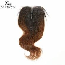 Perruque Lace Closure brésilienne naturelle Body Wave, cheveux vierges, 4x4, partie Lace Closure, pour femmes noires