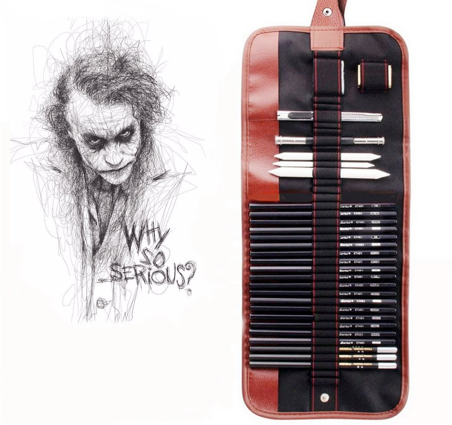 Complete Set Of Pencil Sketching Sets Is A Necessary Professional Sketching Tool And Art Supplies For Students And Beginners