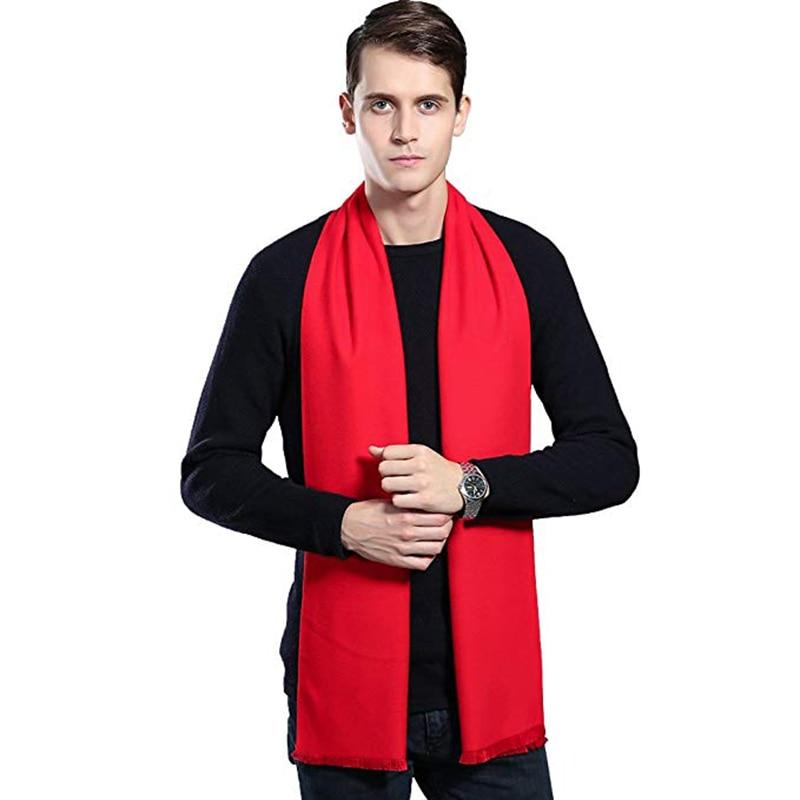 Blanket Scarves Men 2019 Retro Viscose Cachecol Masculino Brand Fashion Red Warm Neck Scarfs Winter For Men Gift Bufanda Hombre