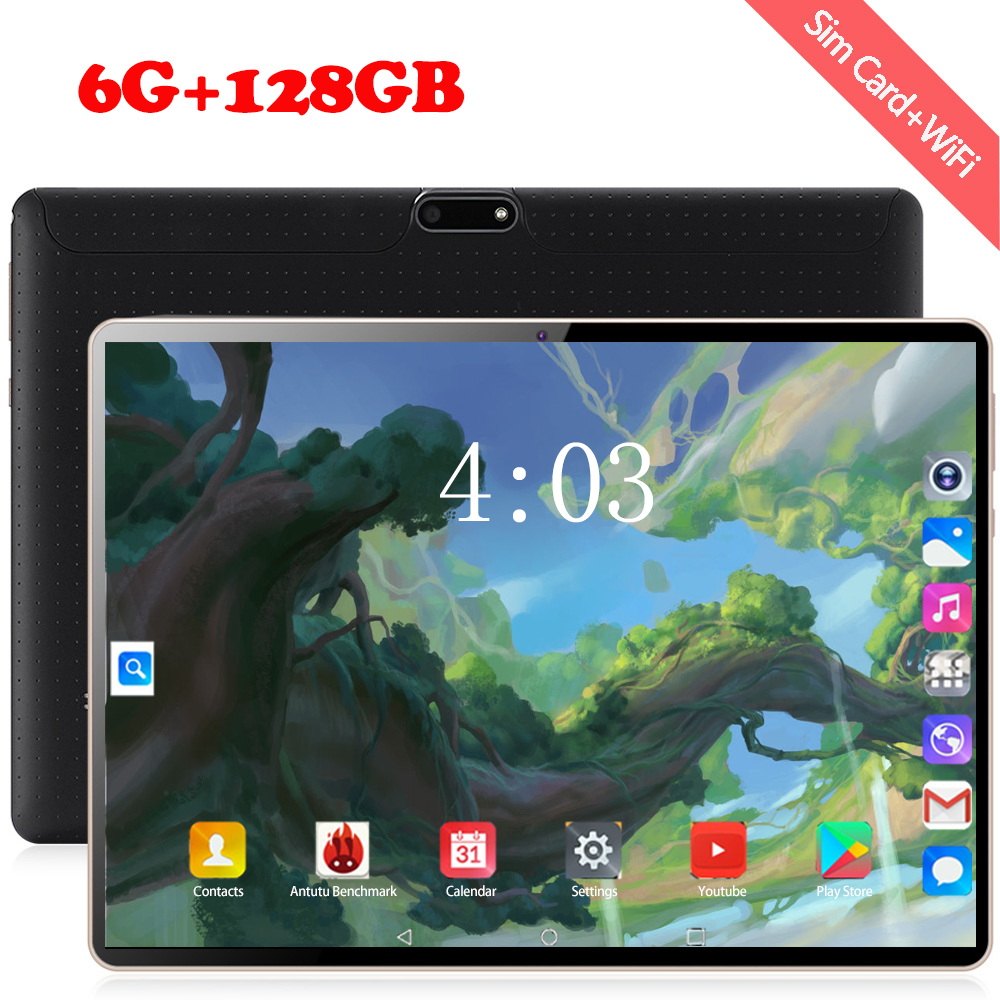 2020 Free Shipping 10.1 Inch Tablet PC Android 8.1 Octa Core 4G Network Wifi 6GB RAM 128GB ROM IPS GPS Tablet  For Kids
