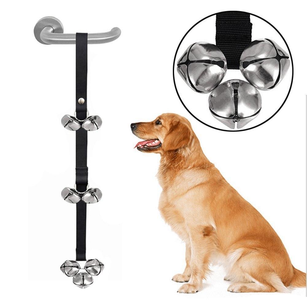 Dog Training Doorbell Puppy Door Handle Sound Bell Pet Supplies for Housebreaking POIGNEE DE-4