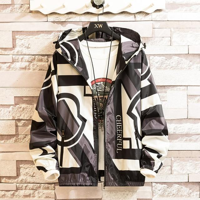 2019 Men Hip Hop Jacket Windbreaker Retro Streetwear Color Block Patchwork Jackets Coat Autumn Harajuku Zip Track Jacket Casual