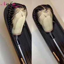 Prosto 13x4 koronki przodu peruki brazylijski ludzki włos peruki Remy koronki przodu peruki dla kobiet PrePlucked 150% gęstości 4x4 zamknięcie peruki
