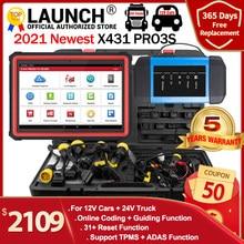 Lançamento x431 pro3s + hdiii 12v/24v carro caminhão ferramenta de diagnóstico auto obd obd2 leitor de código sistema completo varredor diagonístico x431 v pro