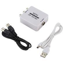 OOTDTY Mini HD Video Converter Box AV RF Video Adapter Ondersteuning RFAV Om RF Scaler