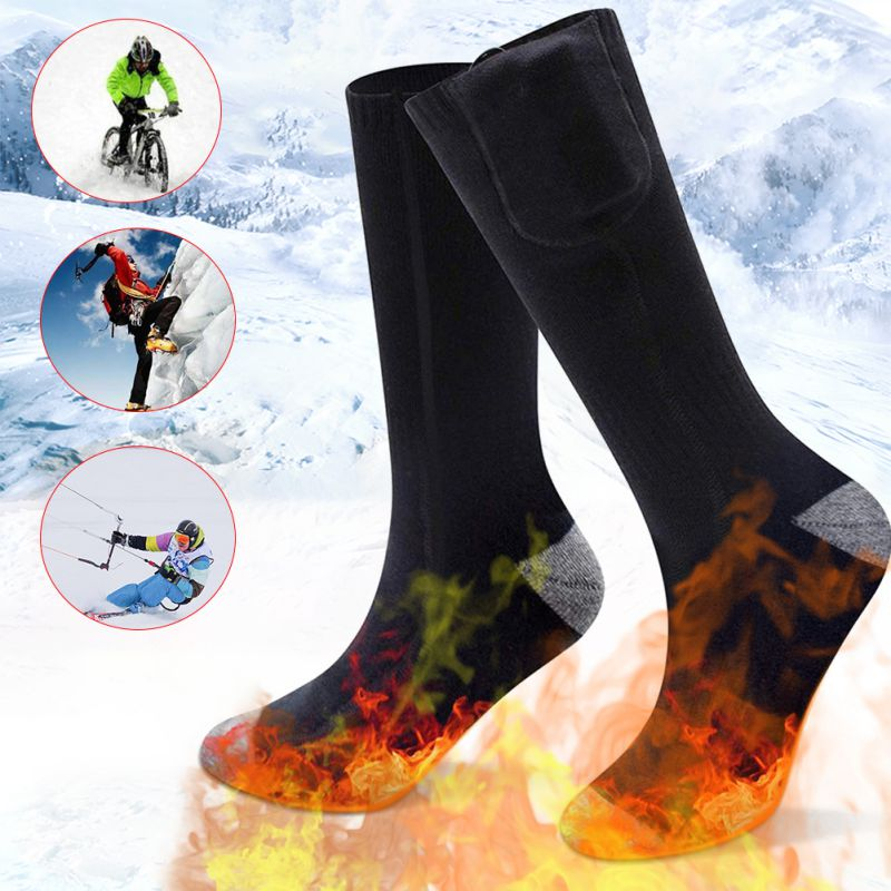 Electric Socks 2200m Charging Thermostat Lithium Battery Heating Socks Can Be Washed And Warm Unisex