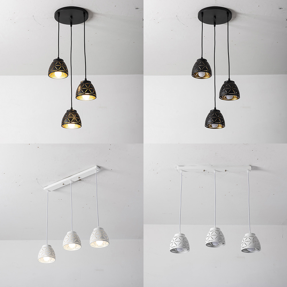 CHJJLL Black Or White Chandelier Pendant Lamp Round Or Long Led Pendant Lighting For Cafe Shop Housing Hotel So Beautiful
