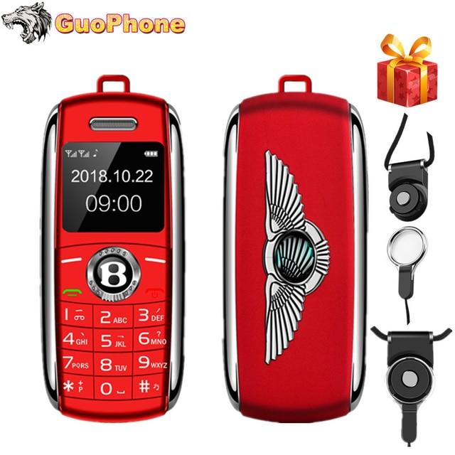 "HOT Deal Unlocked Mini Mobile Phone 0.66"" Bluetooth Dialer Hands Mini Telephone MP3 Magic Voice Dual Sim Smallest Cell Phone"