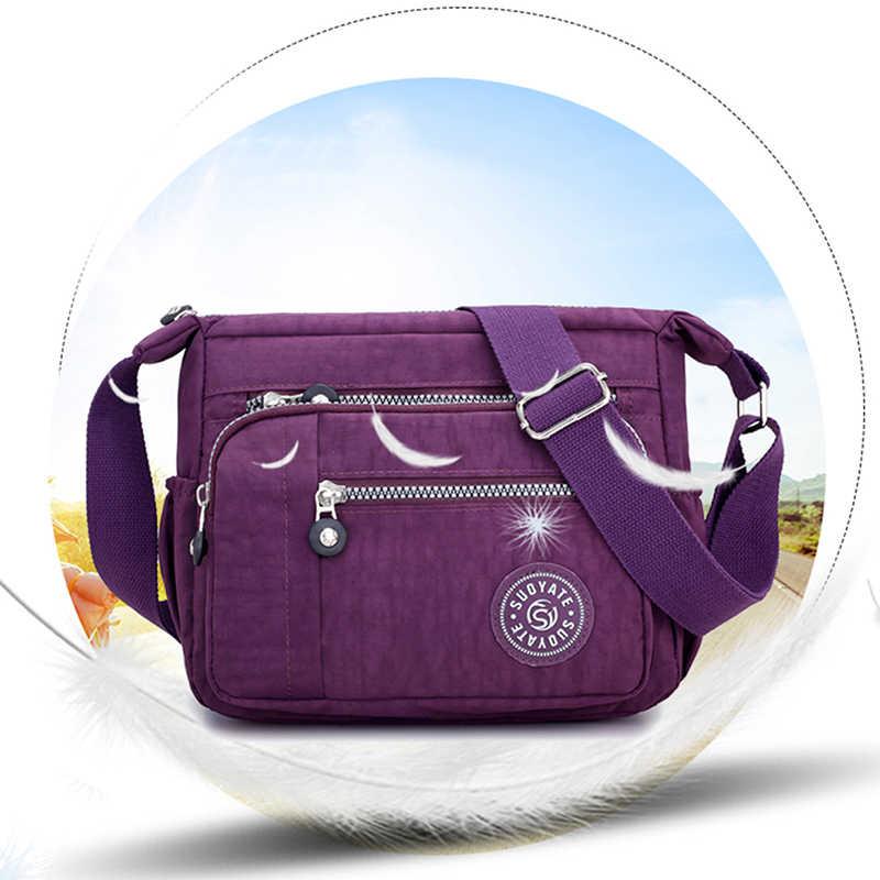 뜨거운 판매 여성 핸드백 메신저 가방 방수 헝겊 가방 좋은 품질 대각선 가방 어깨 가방 및 지갑 수집