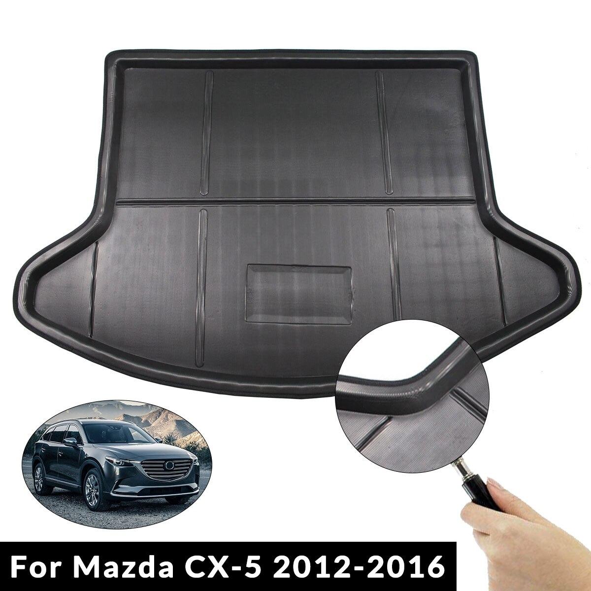 Car Interior Cargo Liner Boot Tray Rear Trunk Cover Matt Mat Floor Carpet Kick Pad For Mazda CX-5 CX5 2012 2013 2014 2015 2016