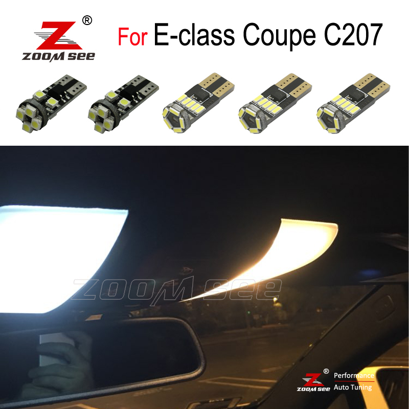 White LED plate bulb + LED interior dome mirror light For <font><b>Mercedes</b></font> E class <font><b>Coupe</b></font> C207 E200 E250 <font><b>E300</b></font> E350 E400 E500 E550 (09-16) image