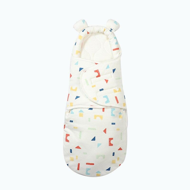 Soft Newborn Baby Wrap Blankets Baby Sleeping Bag For Newborn Zipper Sleepsack Cotton thicken Cocoon for baby Nursery Wrap