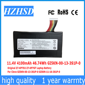 11.4V 4100mAh 46.74Wh GI5KN-00-13-3S1P-0 Original Z7-KP7D2 Z7-KP7GT Laptop Battery  For Clevo GI5KN-00-13-3S1P-0 GI5KN-11-16-3S