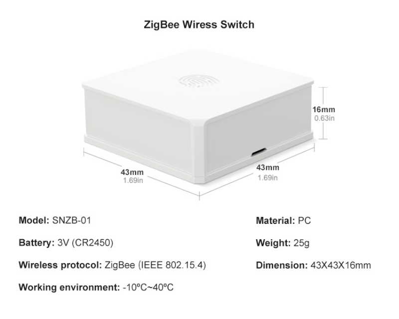 lowest price SONOFF SNZB-01 02 03 04 ZigBee Temperature And Humidity Sensor Real Time LowBattery Notification Works SONOFF ZigBee eWeLink APP