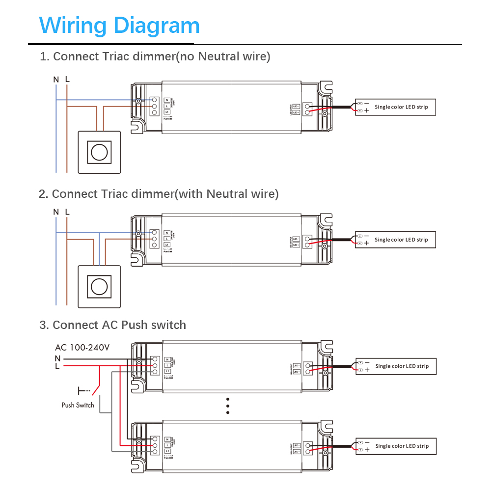 Image 5 - AC220V 240V DC/DC 12V 24V постоянный Напряжение светодиодный симисторный ШИМ цифровой дали затемняя драйвер 40 Вт 1 выходной канал для светодиодный освещения-in Трансформаторы систем освещения from Лампы и освещение