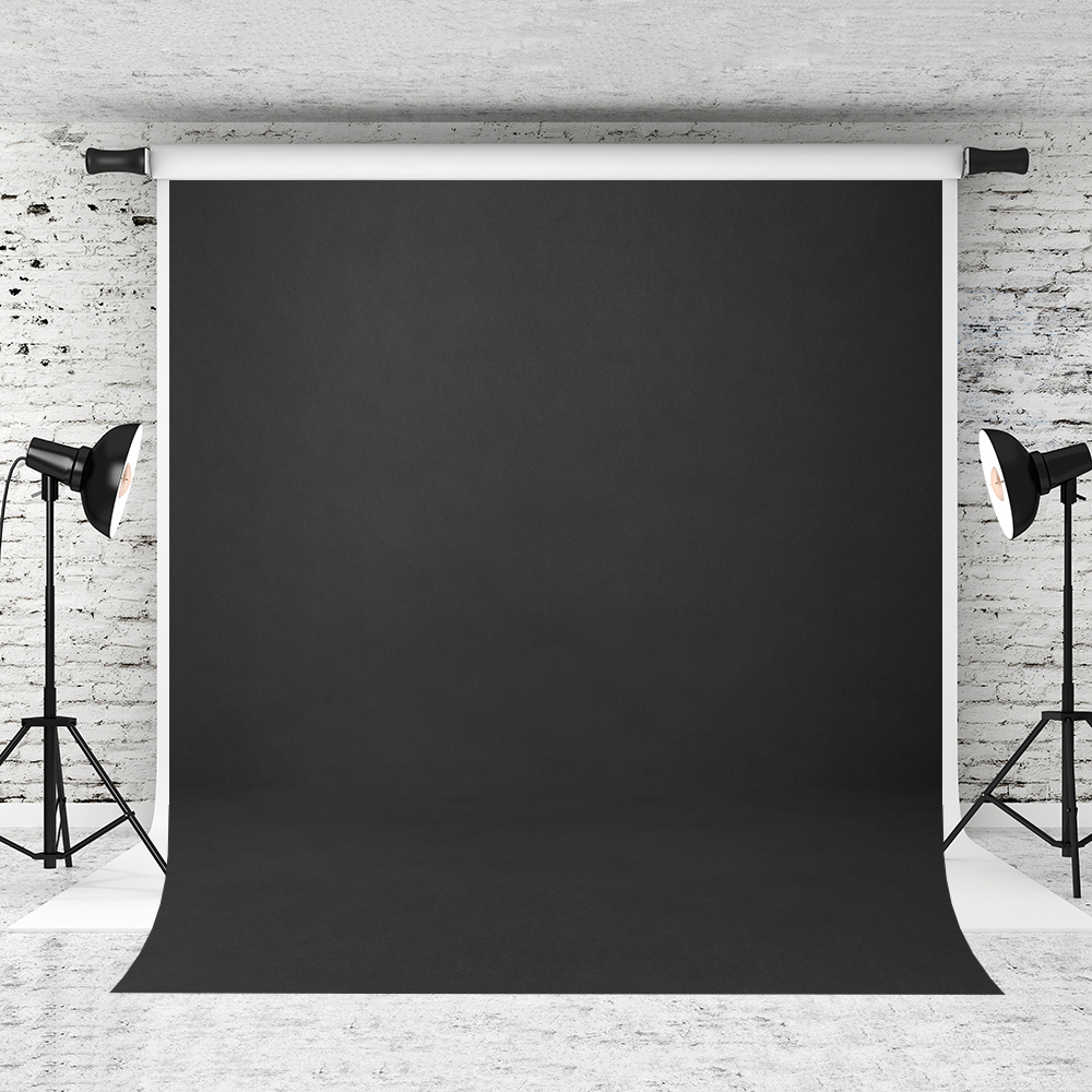 VinylBDS 8x8ft Black Solid Color Photography Backdrop Abstract  Backgrounds For Photo Studio Portraits Custom Camera  FotograficaBackground