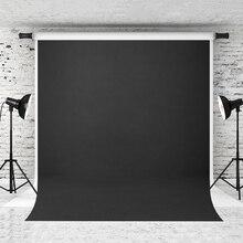 Vinylbds 8x8ft preto cor sólida fotografia pano de fundo abstracto fundos para photo studio retratos câmera personalizada fotografica