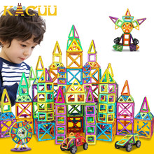 151 Uds de gran tamaño Set de construcción de diseñador magnético modelo y Magnent juguete triángulo cuadrado Constructor de plástico niños niñas regalo