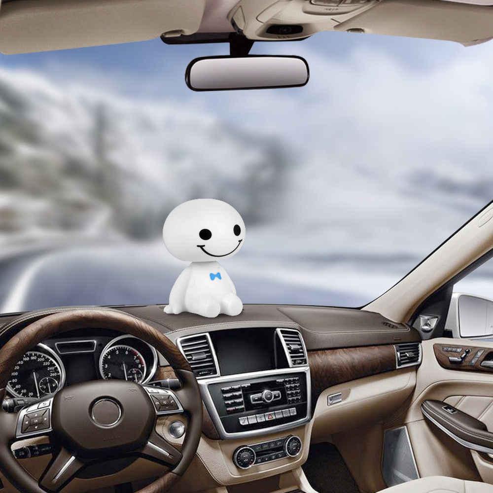 Мультяшный пластиковый робот встряхиватель фигурка автомобиля украшения авто интерьерные украшения большой герой кукла игрушки для интерьера аксессуары