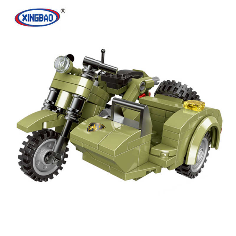 XingBao ww2 army series motorcycle sets 06008 figures tank building blocks toys SWAT compatible legoed military world war 2