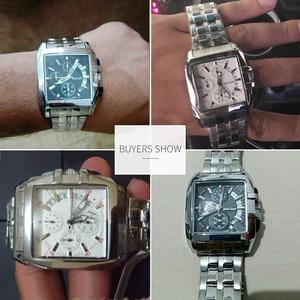 Image 5 - MEGIR Original Luxury Men Watch Stainless Steel Mens Quartz Wrist Watches Business Big Dial Wristwatches Relogio Masculino 2018