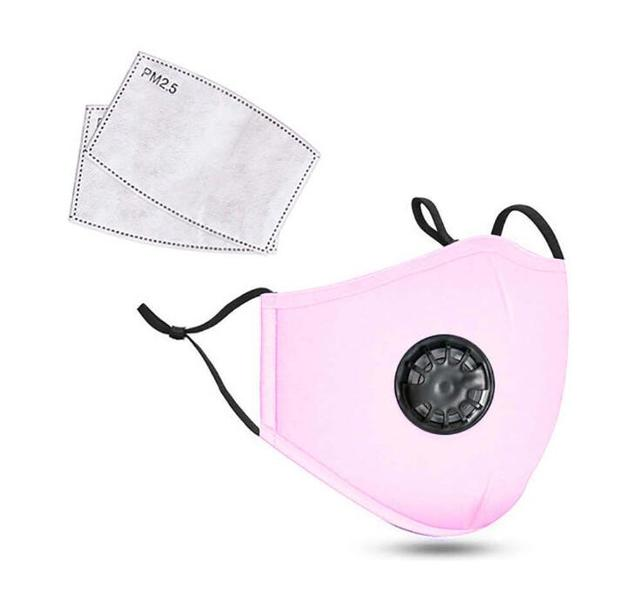 Face Mask Protection Face Mouth Masks PM2.5 Breathable Anti Dust Dustproof Anti-fog Breathing valve Washable 3