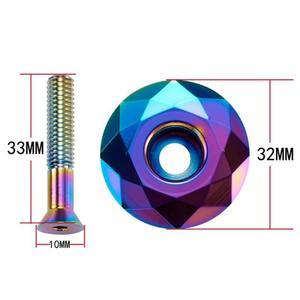 New 3 Colors Bicycle Headset Fork Top Cap MTB Bike Stem Top Cap Headset Cover 28.6mm 1 1/8