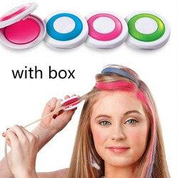 4 шт./кор. волос Цвет мелки для волос порошок Европейский временный Пастель Краска для волос Цвет Краски пастель с действительно коробка