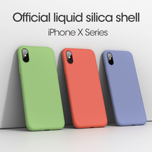 Original Liquid Silicone Case For iPhone XS Max XR X 8 Plus 6 6S Luxury Back Cover 7 Soft TPU Fundas Capa